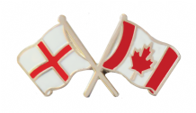 Canada and England Friendship Flag Pin Badge